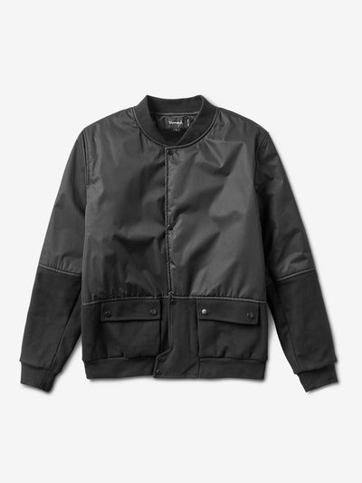 Stadium Bomber Jacket - Black