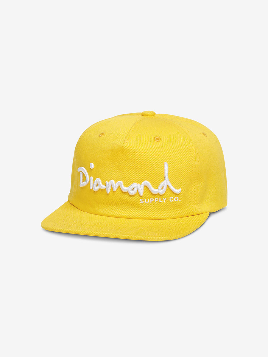 new style 9144c 5ef93 OG Script Unstructured Snapback - Yellow