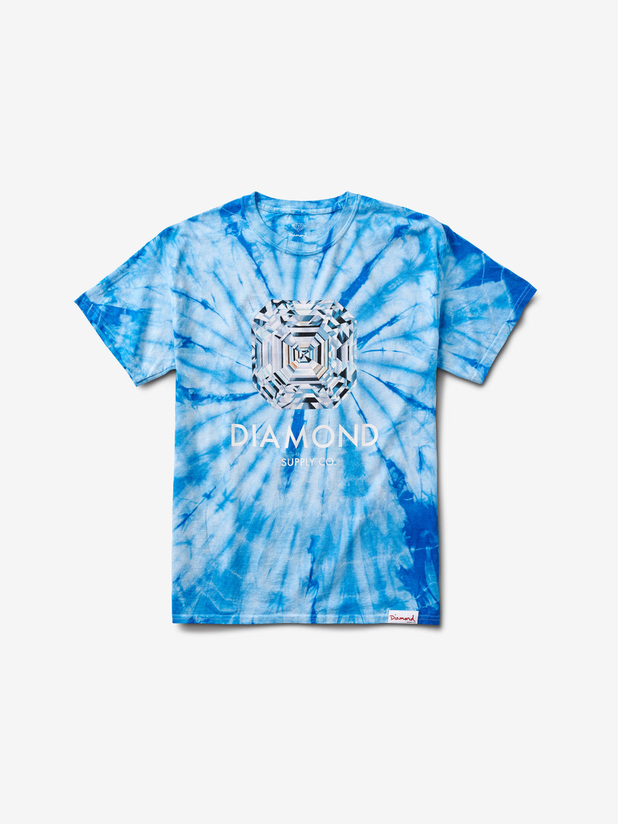 Asscher Tee - Blue Tie Dye, Summer 2019 -  Diamond Supply Co.