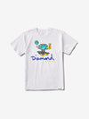 Hoop Dreams Cutty Tee - White, Summer 2019 QS -  Diamond Supply Co.