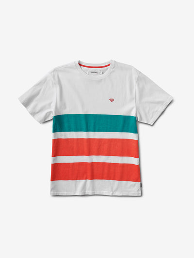 Brilliant Patch Striped Tee - White