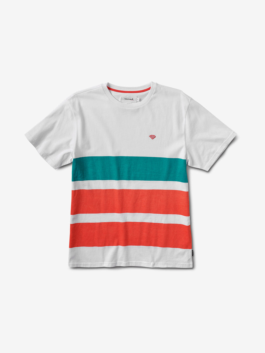 87e4ce474ad Brilliant Patch Striped Tee - White