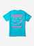 Cash for Diamonds Tee - Turquoise