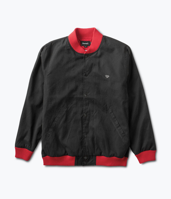 Black Stadium Jacket, Fall 2017 Delivery 1 Cut-N-Sew -  Diamond Supply Co.