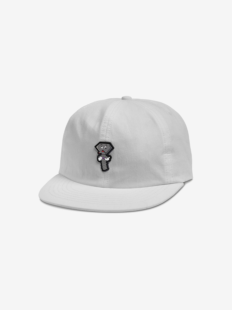 Screwed Up Unstructured Hat - White