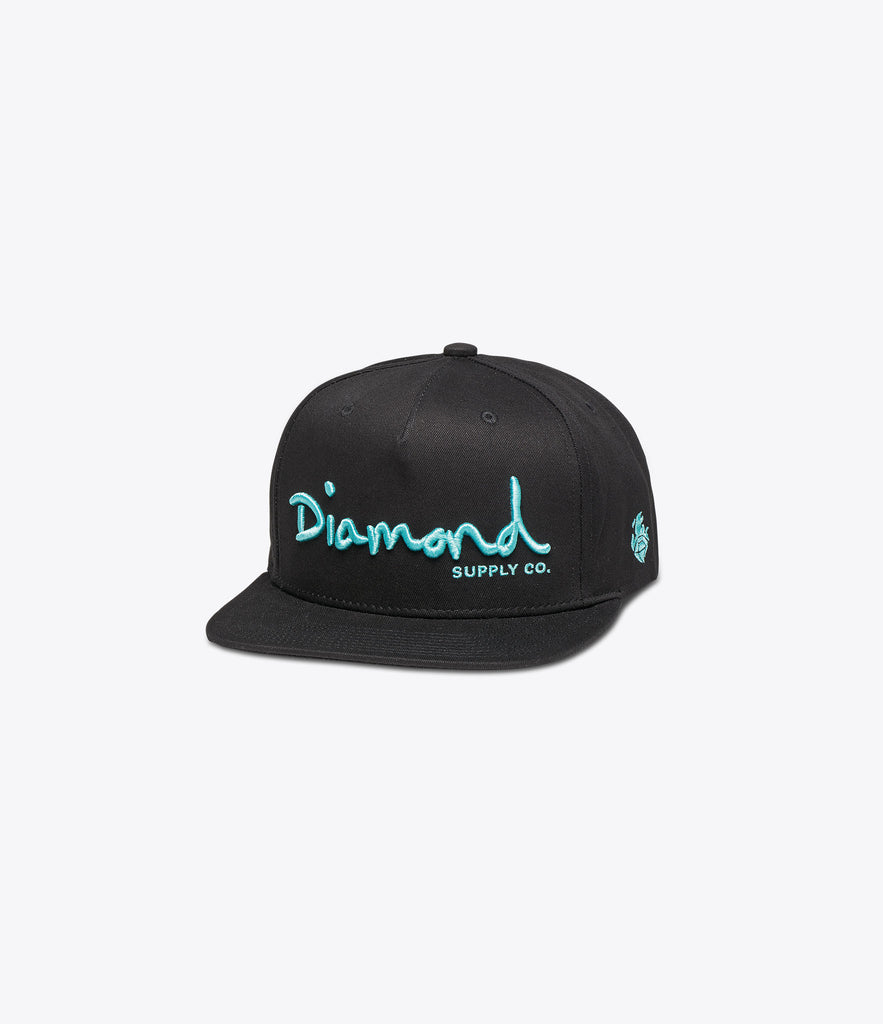 OG Script Unstructured Snapback, Spring 2017 Delivery 1 Headwear -  Diamond Supply Co.