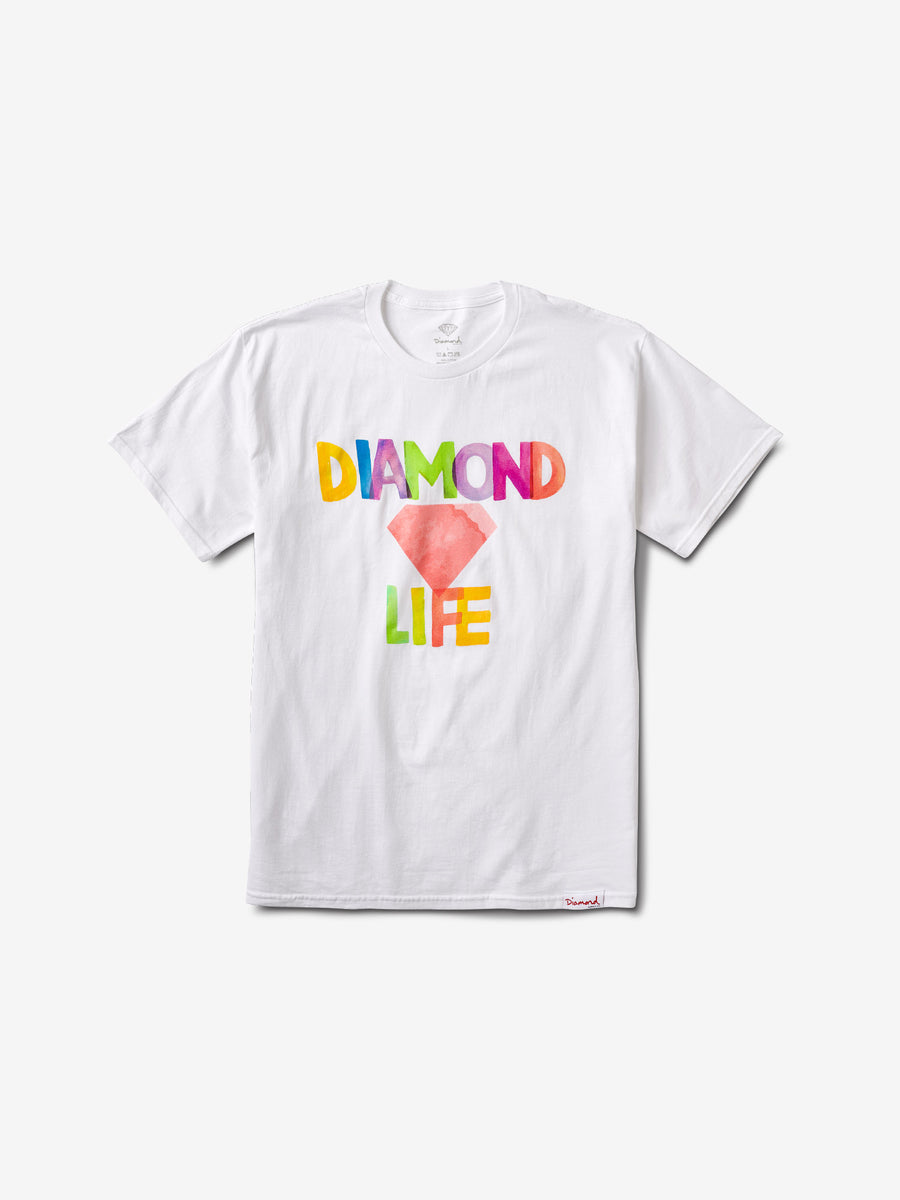 Watercolor Tee - White, Summer 2019 -  Diamond Supply Co.