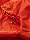 Diamond Panelled Bomber Jacket - Orange