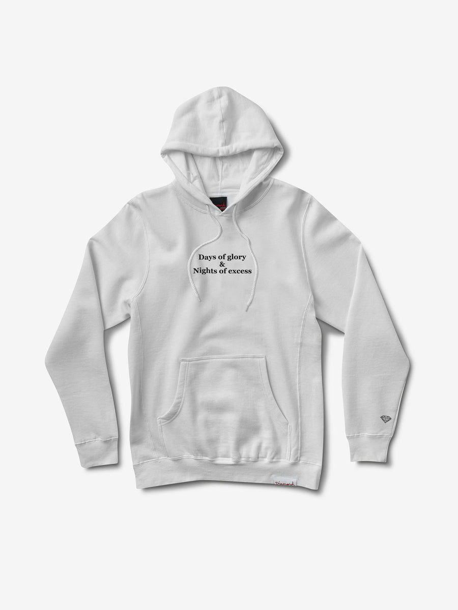 Nights of Excess Hoodie - White,  -  Diamond Supply Co.