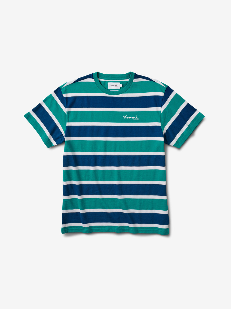 sports shoes 3eb77 61af8 Mini OG Script Striped Tee - Teal