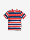 Mini OG Script Striped Tee - Coral