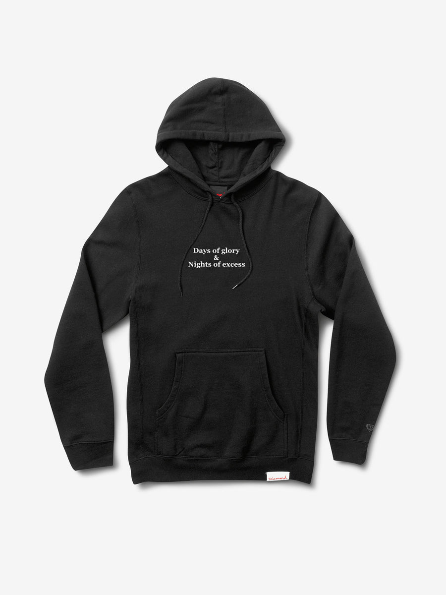 Nights of Excess Hoodie - Black,  -  Diamond Supply Co.