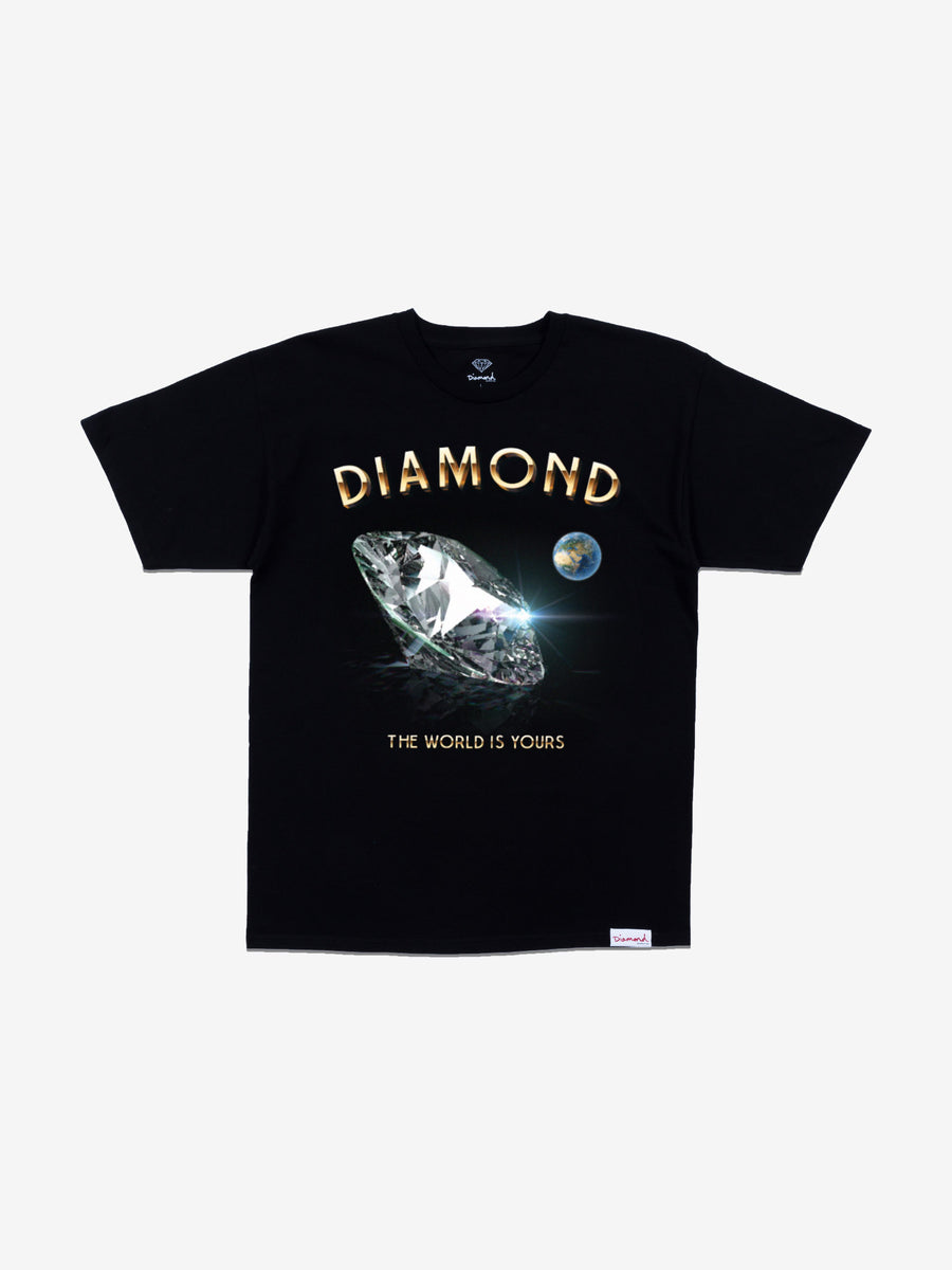 World Is Yours Tee - Black, Fall 2019 -  Diamond Supply Co.