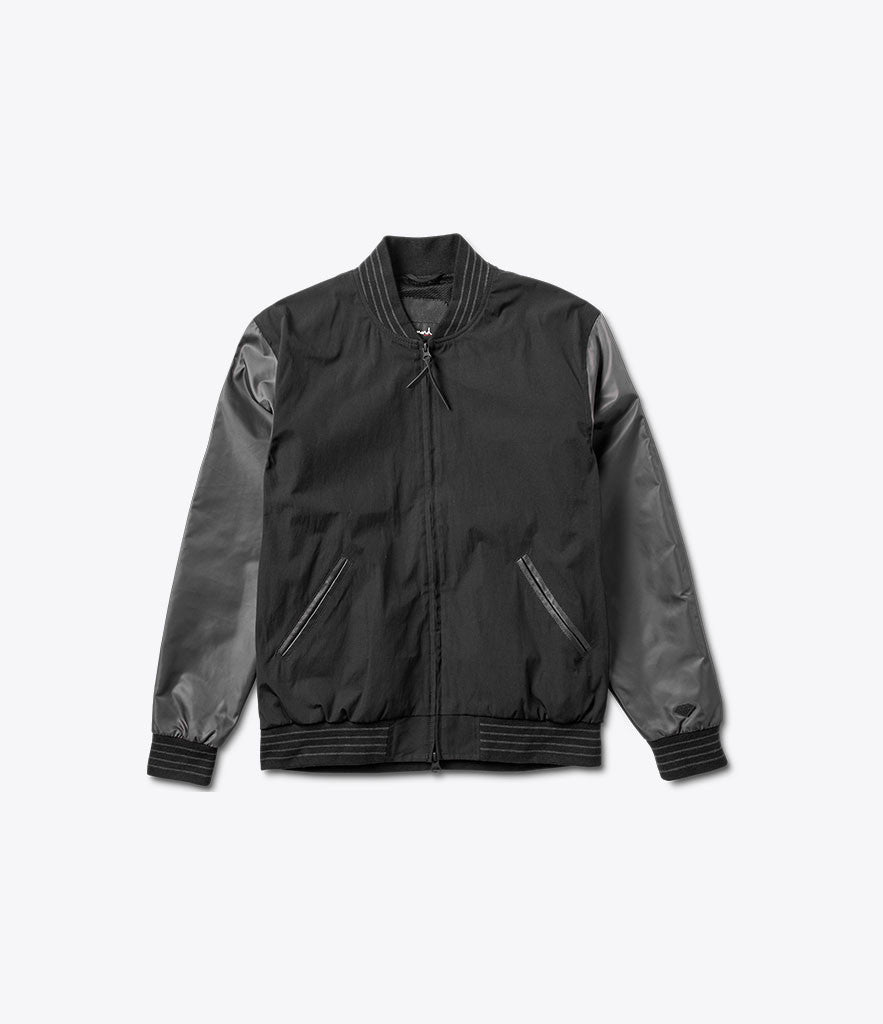 Black Facet Stadium Jacket, Fall 2016 Jackets -  Diamond Supply Co.