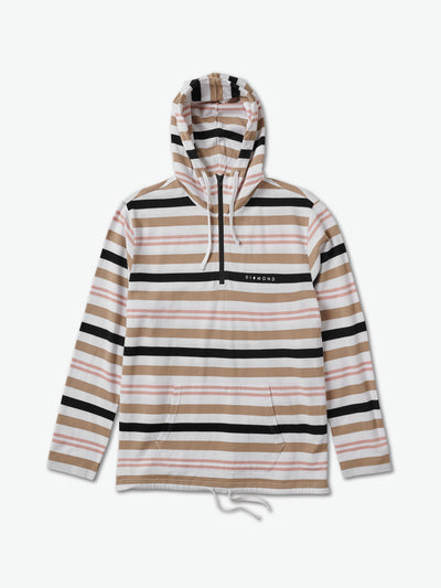 Marquise Striped Quarter Zip - White