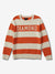 Diamond Striped Wool Sweater - Orange