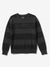 Diamond Striped Wool Sweater - Black