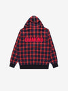 The Hundreds - Plaid Hooded Varsity Jacket - Red
