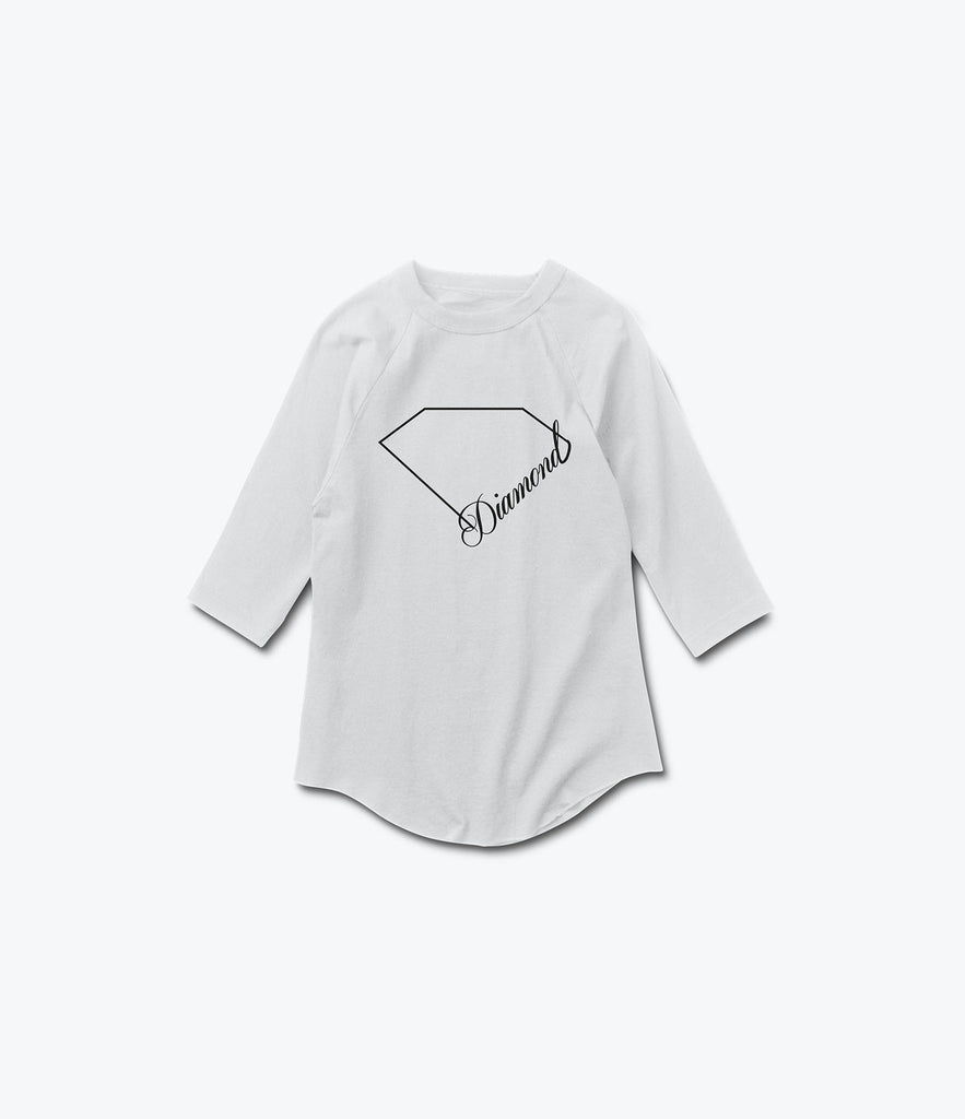 LInear Script 3/4 Sleeve Tee, Summer 2016 Delivery 2 Tees -  Diamond Supply Co.