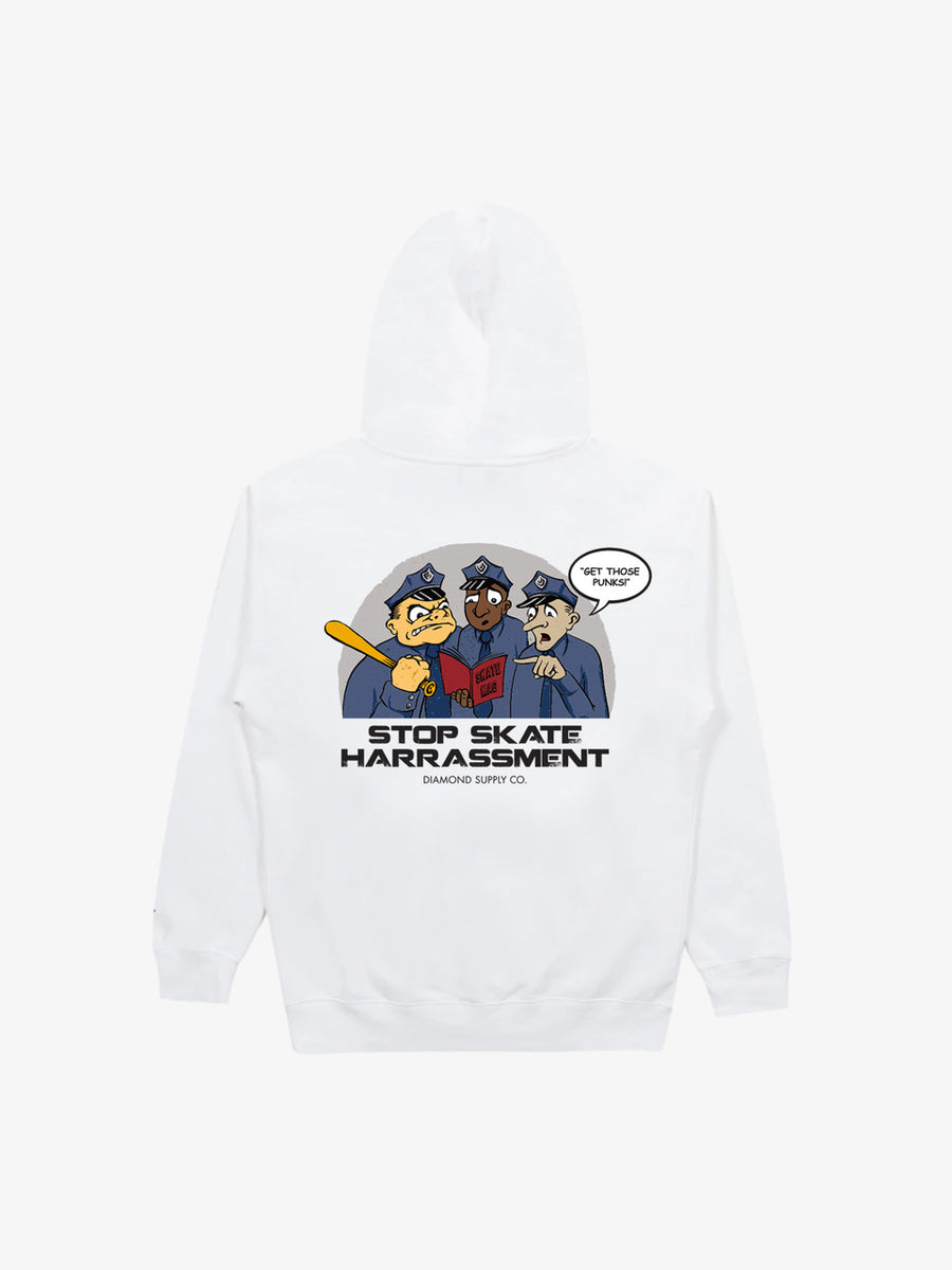 Three Cops Hoodie - White