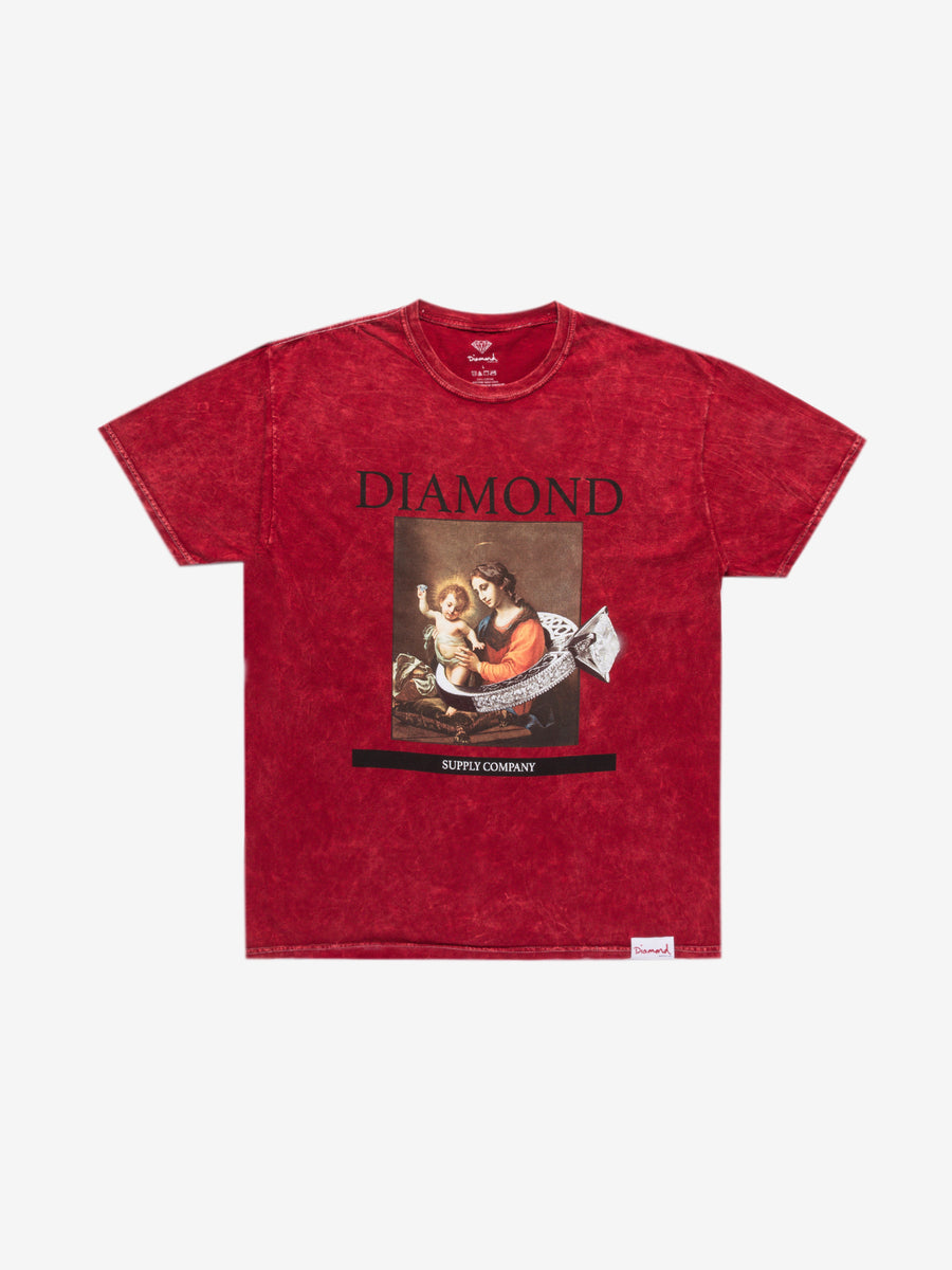 The Hundreds - 13th Century Mineral Wash Tee - Red