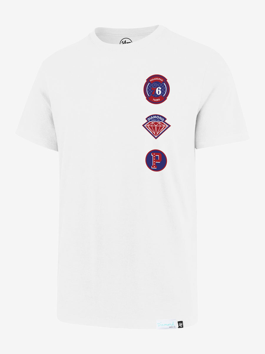 DIAMOND X '47 X NBA Flanker Tee -  76ers