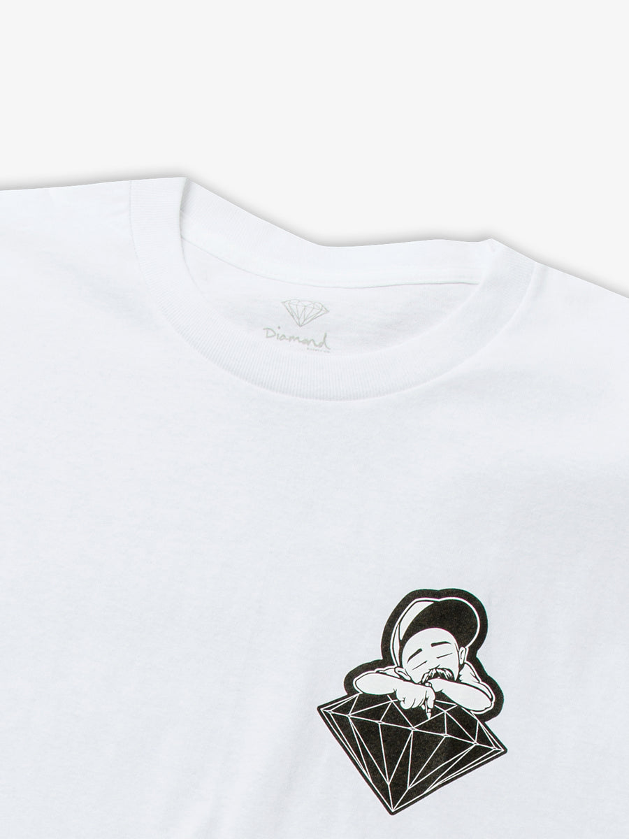 Diamond X Big Sleeps Tee - White