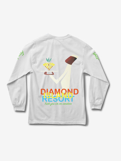 Diamond Resort Longsleeve - White