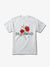 Red Rose Tee - White