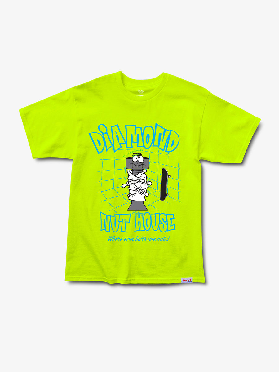 Nut House Tee - Safety Green