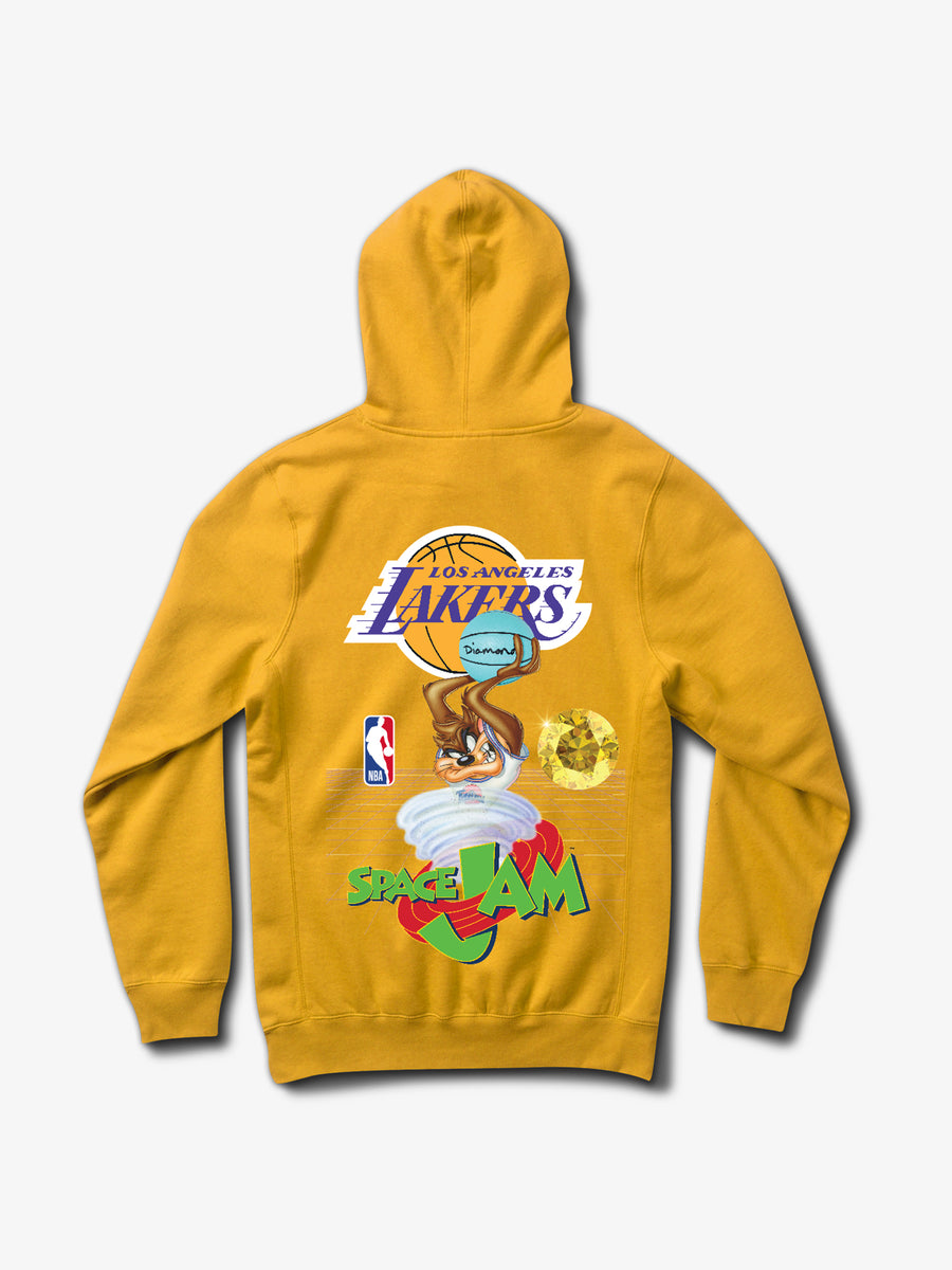 Diamond x Space Jam Los Angeles Lakers Hoodie - Gold