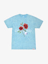 The Hundreds - Red Rose Mineral Wash Tee - Diamond Blue
