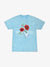 Red Rose Mineral Wash Tee - Diamond Blue