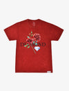 The Hundreds - Red Rose Mineral Wash Tee - Red