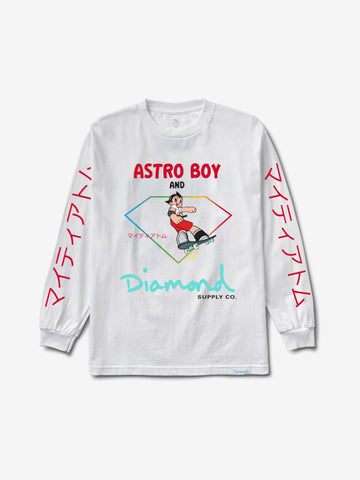 Diamond and Astroboy Longsleeve - White