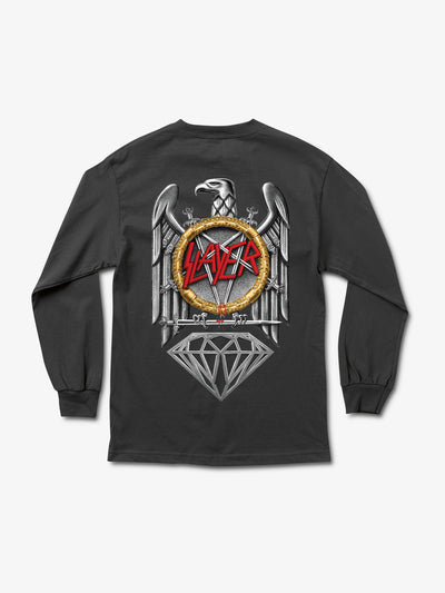The Hundreds - Diamond x Slayer Brilliant Abyss Longsleeve - Black