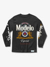 Modelo Diamond Long Sleeve Tee - Black