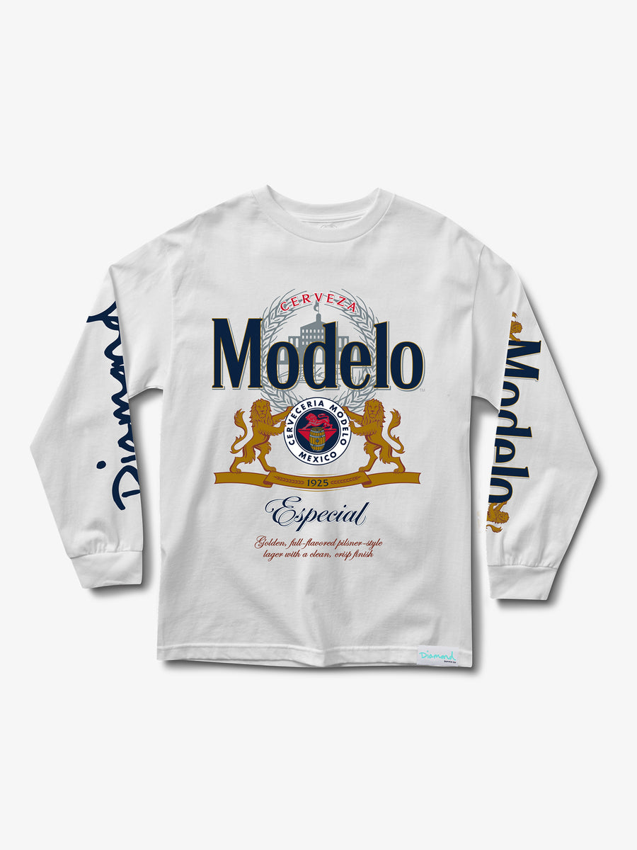 Modelo Diamond Long Sleeve Tee - White