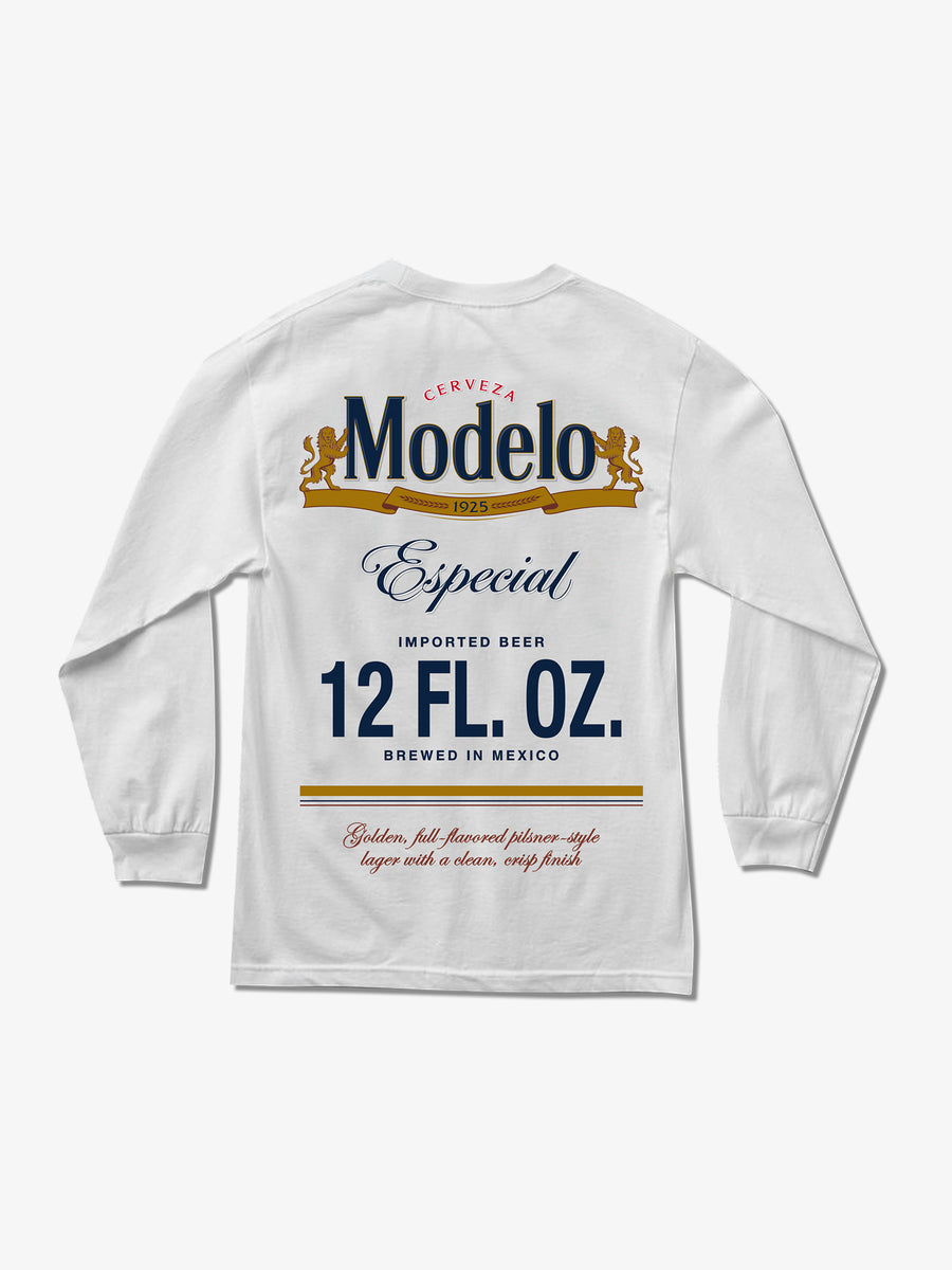 12 FL. OZ. Long Sleeve Tee - White