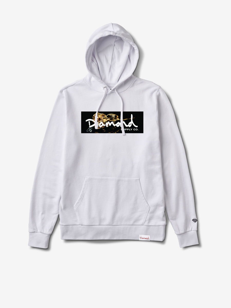 Rose Gold Pullover Hoodie - White