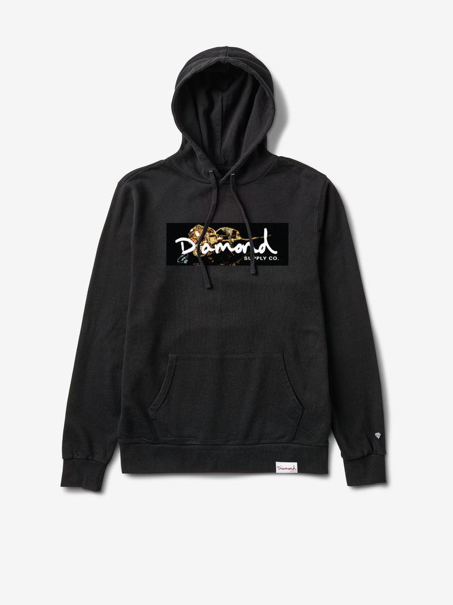 Rose Gold Pullover Hoodie - Black
