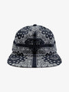 Brilliant Bandana Unstructured Snapback - Black