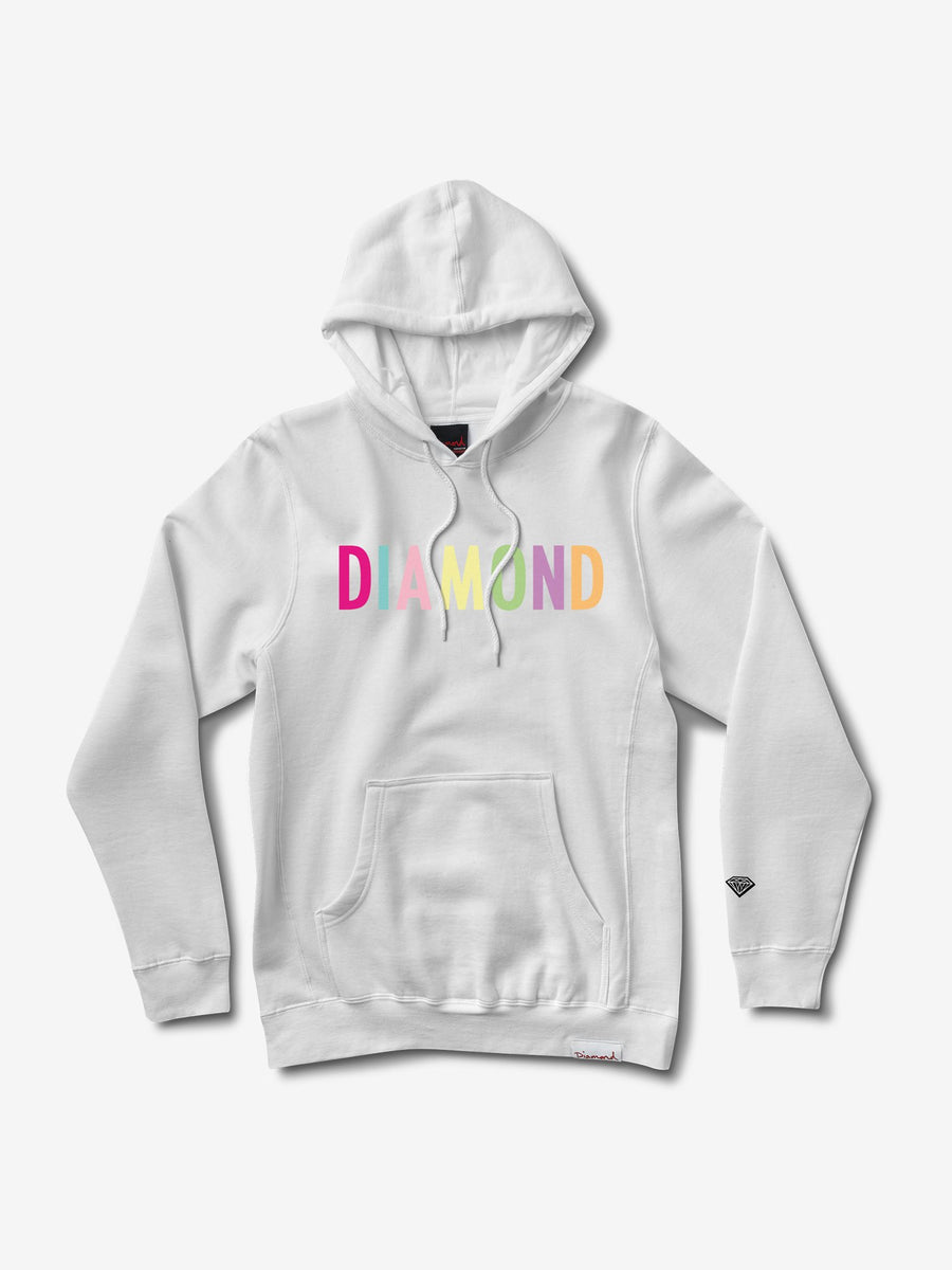 Colour Pop Hoodie - White