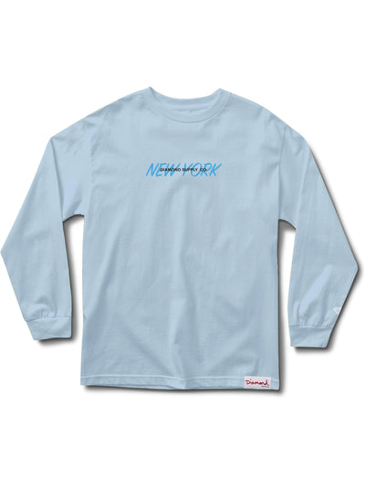 New York Long Sleeve Tee - Powder Blue