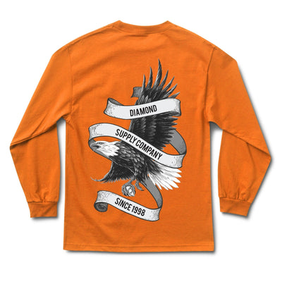 Bald Eagle Long Sleeve Tee - Orange
