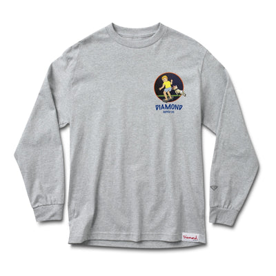Schoolyard Long Sleeve Tee - Heather Grey