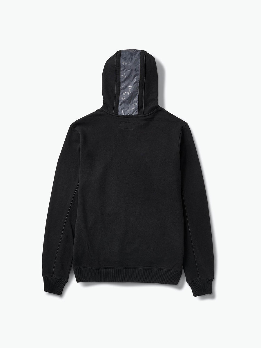 Checkered Cross Hoodie - Black