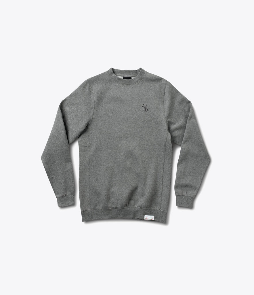 Serif Embroidered Crewneck Sweatshirt