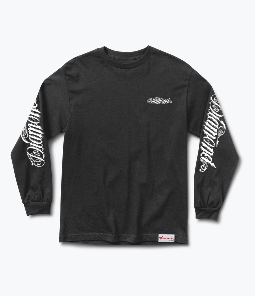 Diamond Giant Script Longsleeve Tee, Holiday 2017 Delivery 2 -  Diamond Supply Co.