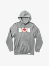 Lips Hoodie - Heather Grey